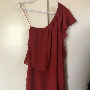 One Shoulder ruffle dress from Urban
